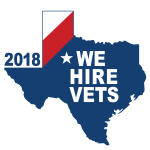 EZ Exit Now is proud to hire United States Veterans - We Hire Vets 2018 Logo