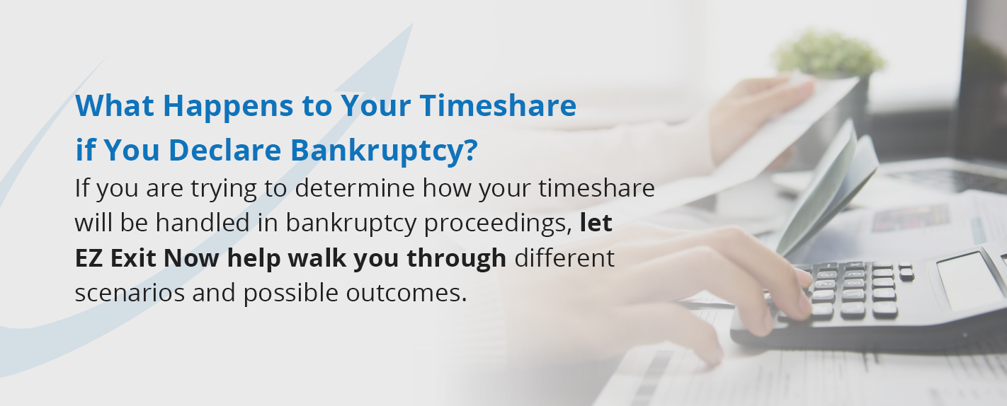 what happens to your timeshare if you declare bankruptcy