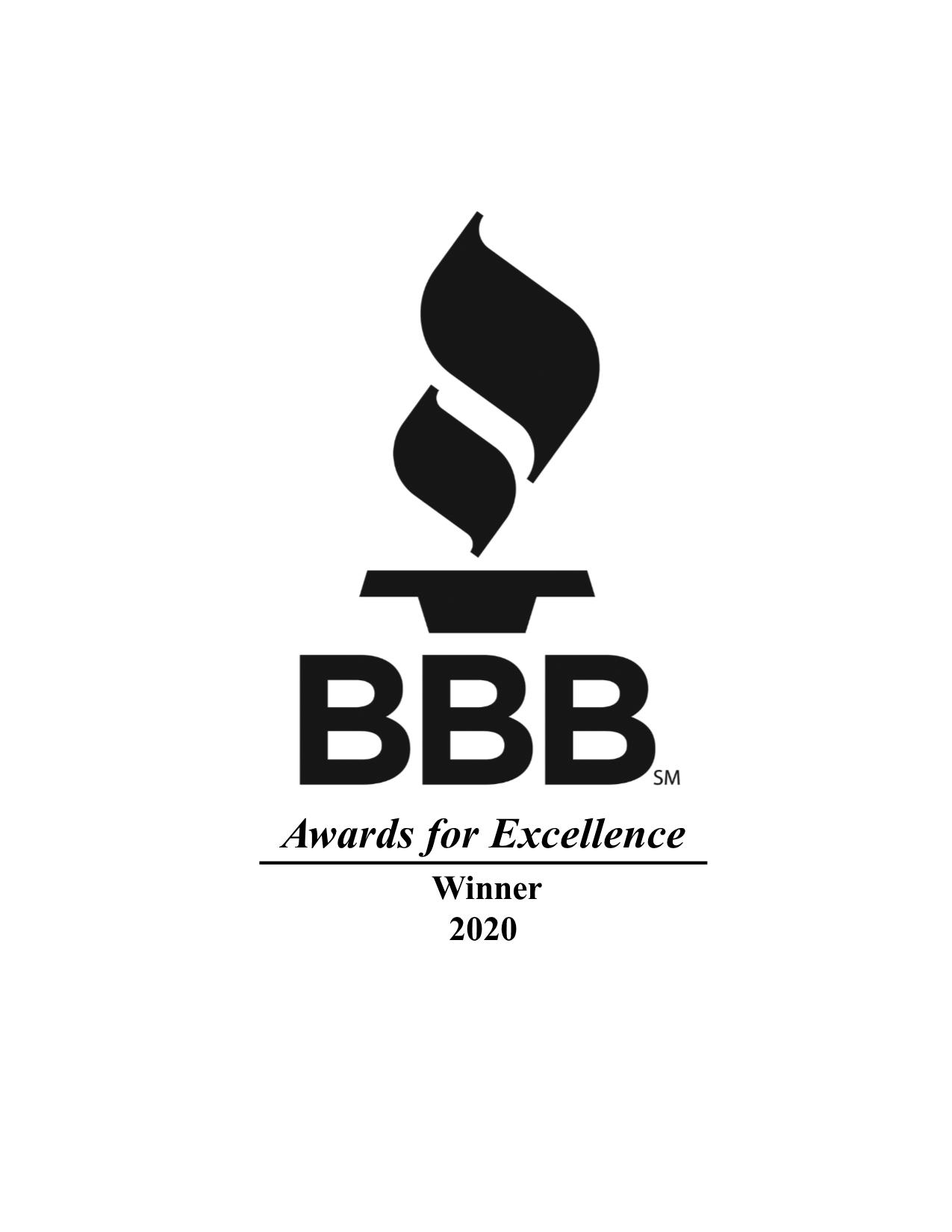 BBB Awards for Excellence Winner 2020