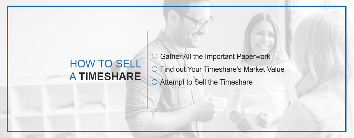 How to sell a timeshare: Gather all the important paperwork, find out your timeshare's market value, attempt to sell your timeshare.