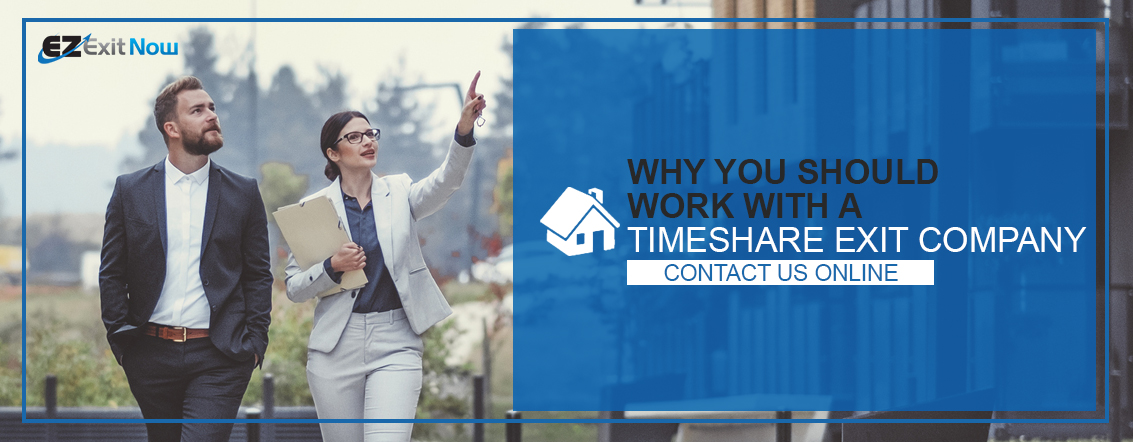 Why you should work with a timeshare exit company. Contact us online (button)
